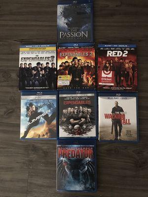 7 películas blu Ray más dvd solo una le falta el dvd pido $35 por todas for Sale in Dallas, TX