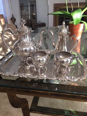 Silver Plate Coffee/Tea Set for Sale in Springfield, VA