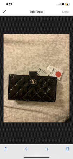 New Authentic Chanel Black Patent Leather Mini Clutch Pochette Wallet bag RARE for Sale in Allen, TX