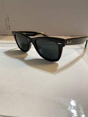 Ray-Ban RB2140 wayfarer 50 mm bright black classic Sunglasses new 100% UV protection comes with carry case, dust cloth, and tags for Sale in Rowland Heights, CA