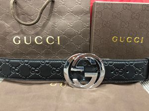 Gucci Black Leather Interlocking GG Belt *Authentic* for Sale in Queens, NY
