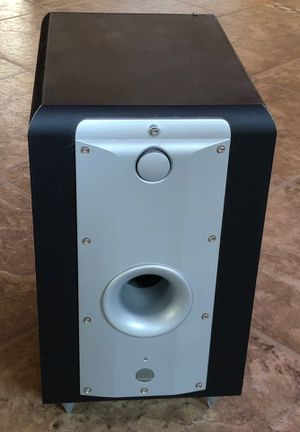 Athena Technologies M225 Powered Subwoofer and pair of satellite speakers for Sale in New River, AZ
