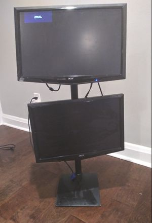 19inch Acer Dual Vertical Monitor Stand With Monitors for Sale in Baltimore, MD