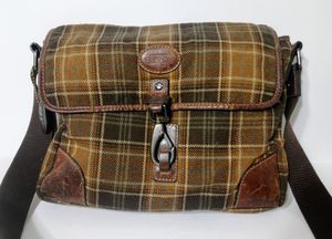 Fossil tartan check messenger commuter bag rare find for Sale in North Richland Hills, TX