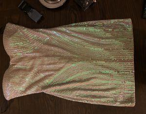 Bebe gold strapless dress for Sale in Goodyear, AZ
