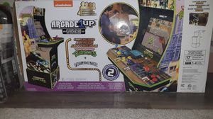 """Nickelodeon 4 player cabinet arcade 1up with LCD monitor total hight 57.8"""" teenage mutant ninja turtles + turtles in time games for Sale in Cedar Park, TX"""