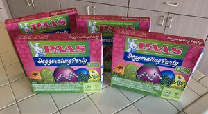 4 brand new PAAS Deggorating Party Easter Egg Decorating Kits for Sale in Plantation, FL