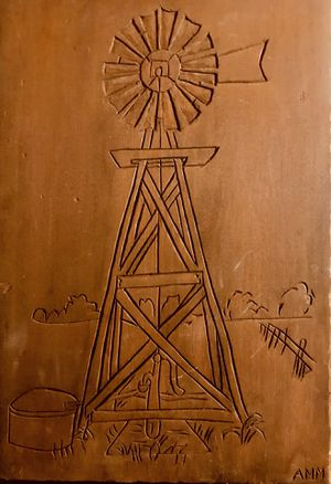 WOODEN CARVING OF WINDMILL WALL PLAQUE for Sale in Wichita, KS