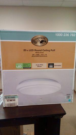 Hampton Bay Dimmable 20 in. Round White LED Flush Mount Ceiling Light Fixture 2200 Lumens 4000K Bright White for Sale in Suwanee, GA