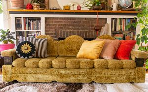 Vintage Gold velour velvet couch for Sale in Seattle, WA