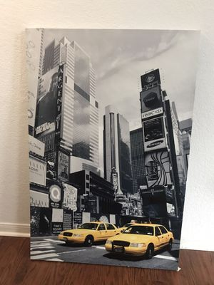 IKEA Large NYC Taxi cab print for Sale in Round Rock, TX