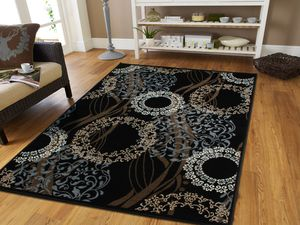 Black circle rug 5x8 area rug 8x11 for Sale in Baltimore, MD