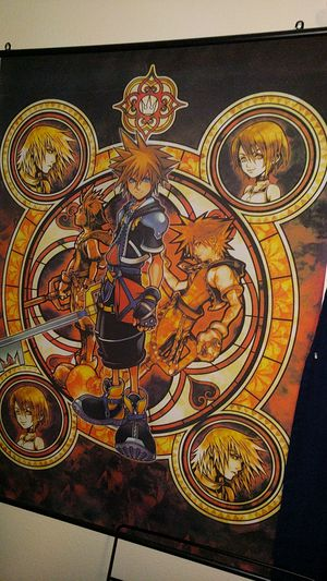 Kingdom hearts wall poster for Sale in Vancouver, WA