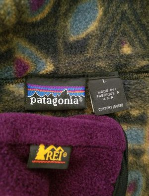 Olive green and purple Patagonia sweater with REI headband size large for Sale in Phoenix, AZ