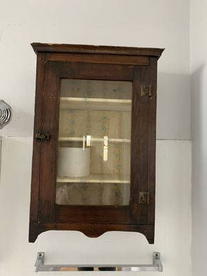 Antique wood cabinet for Sale in Chicago, IL