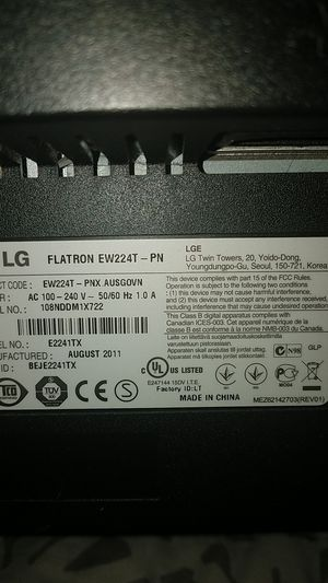 LG Monitor 60hz for Sale in Garden Grove, CA