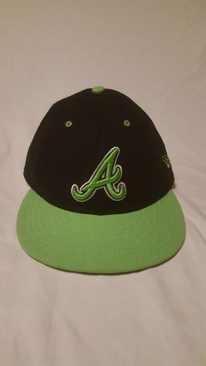 Atlanta Braves New Era 59fifty Cap Hat Size 7 ( fits like size 6 7/8 fitted cap ) for Sale in Everett, WA