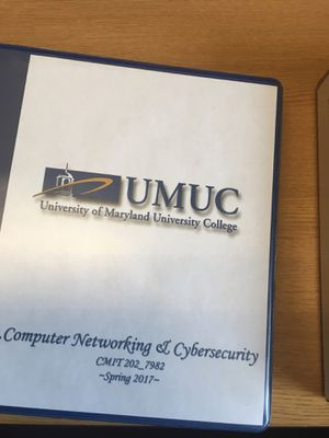 UMUC Computer Network and Cybersecurity TestOut Labsim Binder (CMIT 202_7982) for Sale in Bowie, MD