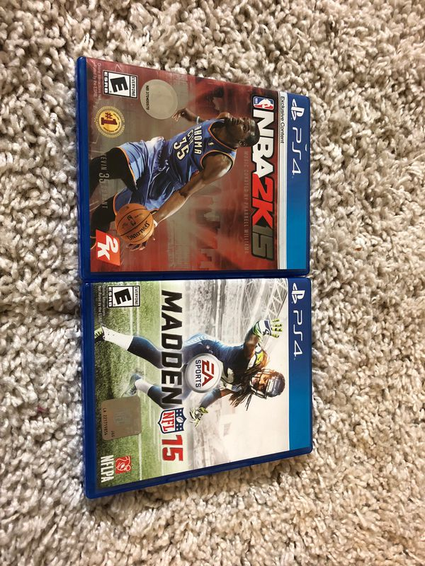 NBA 2k15 and madden 15 bundle for PS4