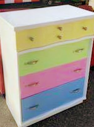 Colorful 4-Large Real Wooden Drawer Dresser for Sale in Arvada, CO