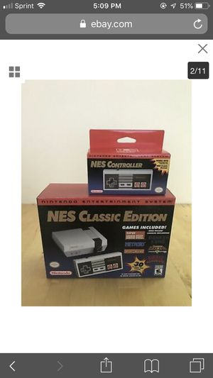 Nintendo mini classic bundle NES with extra controller for Sale in Antioch, CA