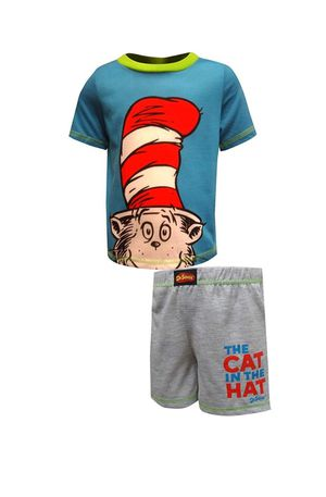 Dr Seuss Little Boys' Toddler Cat in The Hat Printed Two-Piece Sleep Set Blue for Sale in Miami, FL