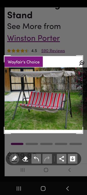 Wayfair Brands...Porch Swing and Closet Organizer for Sale in Riverdale, GA
