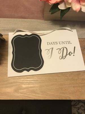 Wedding sign. Wedding party decor. Days until I do sign for Sale in Falls Church, VA