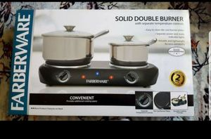 New Solid double burner / parilla eléctrica was a gift didnt need it.. for Sale in Ontario, CA