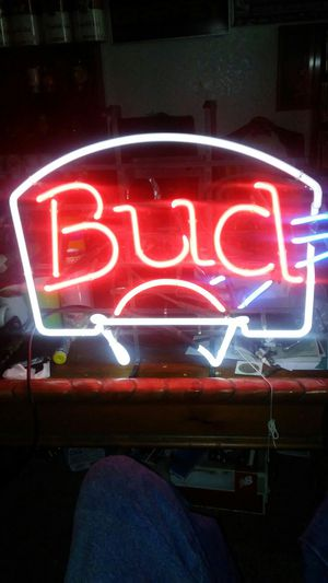 Budweiser neon sign for Sale in Fresno, CA