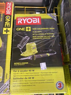 Brand new Ryobi 40w soldering iron with battery and charger only asking $75 for Sale in La Habra,  CA