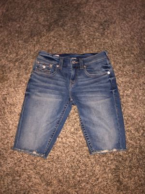 True religion Jean shorts (RICKY) shorts men size 28 for Sale in Carmichael, CA