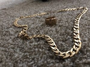 18k chain and ring for sale for Sale in Lawrenceville, GA