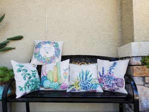 Succulents pillow case. Pick up near calvin and elkgrove florin rd, for Sale in Sacramento, CA