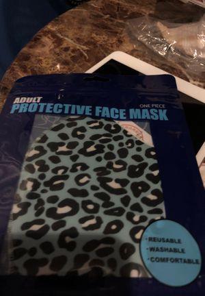 Blue leopard print mask for Sale in Parkville, MD