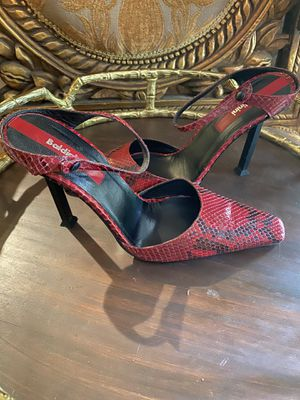 BALDENINI Red Python Heels for Sale in The Woodlands, TX