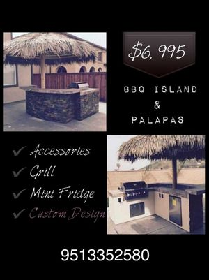 BBQ islands.. palapas firepits grills media wallls for Sale in Irvine, CA