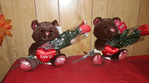 Bears with Lighted Rose for Sale in Laredo, TX