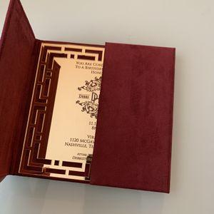 Burgundy Suede Acrylic Or Paper Invitation Folder for Sale in Brandon, FL