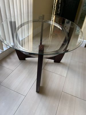 Glass/Brown Coffee Table for Sale in Lake Worth, FL