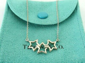 TIFFANY & CO Sterling Silver Triple Star Pendant Necklace for Sale in Washington,  DC