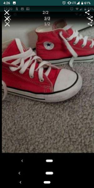 Converse kids shoes size 10 for Sale in Pinellas Park, FL