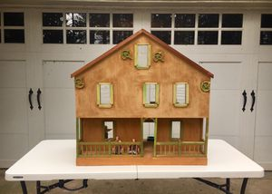 Antique handmade doll house (incl. all the items shown in photos) for Sale in Raleigh, NC