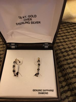 Diamond Sapphire earrings for Sale in Lorton, VA