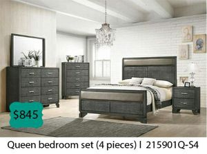 Queen bedroom set 4 pieces for Sale in South Gate, CA