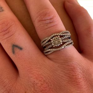 14k White Gold Engagement And Wedding Band Wrap Soldered Together for Sale in Mesa, AZ