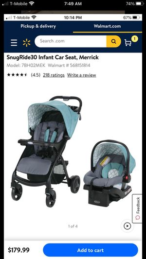 Graco stroller with car seat and base / travel system for Sale in Phoenix, AZ