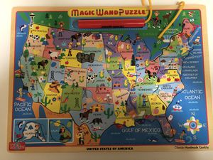 Unites states map puzzle game for Sale in Fresno, TX