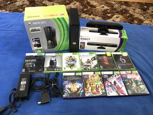 Xbox 360 Kinect Super Bundle in Box with 12 games included for Only $150 or best offer! for Sale in Coronado, CA