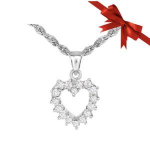 14K Rope Chain Diamond Heart Pendant for Sale in Buena Park, CA